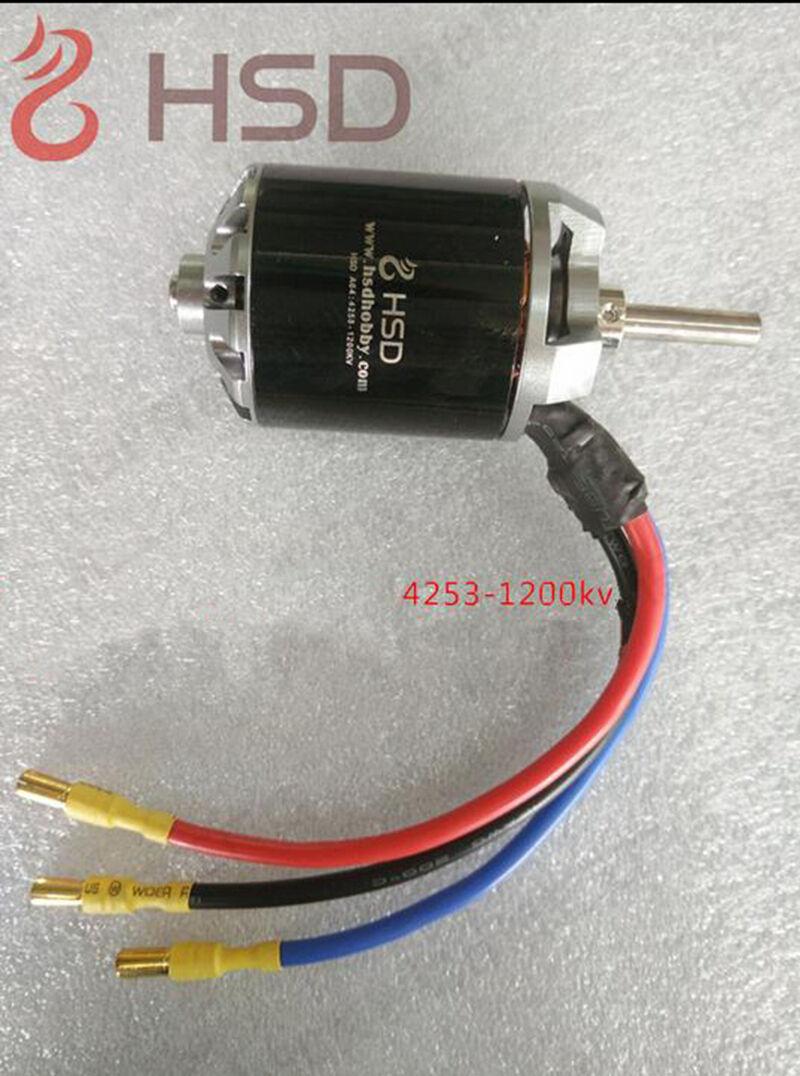 Motor Brushless 4258 1200KV para HSD 105MM Earth Defense flota 6S súper Viper radio control Avión