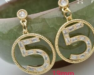 Luxury Earrings Round  5 Womens Jewellery. Number 5, Round Earrings