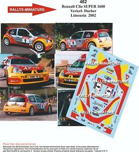 DECALS 1//43 REF 0471 Renault Clio S1600 Hirvonen Rallye San Remo  2002
