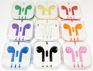 Lot-Headphones-Earbuds-Headset-With-Mic-For-Apple-iPhone-5-iPhone-6-6s-iPod