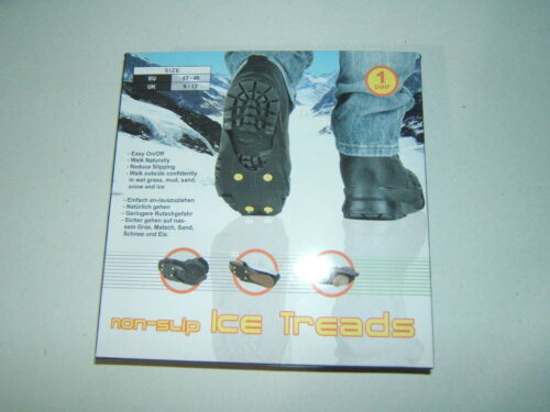 NON-SLIP ICE TREADS SNOW GRIP CLEATS SHOE BOOT TRACTION SLIP-ON UK8-13 EU43-48 L
