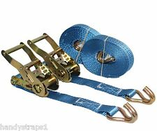Heavy Duty Ratchet Tie Down Strap J-Hook 3m  x 27mm Rated 350kg Max 1000kg New