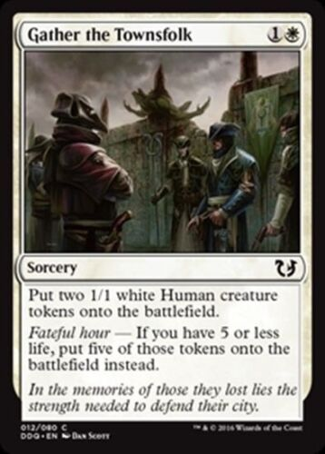 4 GATHER THE TOWNSFOLK ~mtg NM Duel Deck Com x4 Blessed vs Cursed