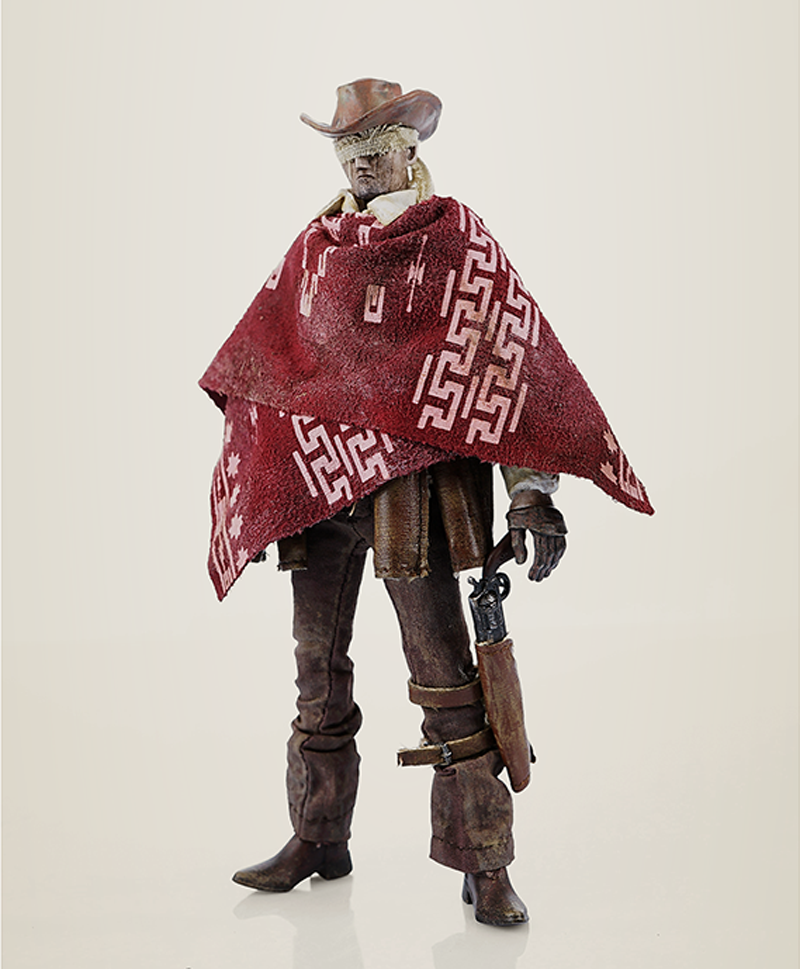 ThreeA 3A Portable Blind Blind Blind Cowboy & Ghost Horse Set Scale 1 12th Action Figure bce2eb