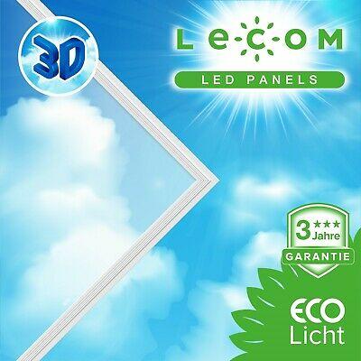3D Himmel LED Panel 62x62cm 40W inkl Netzteil 3D-SKY LED Himmel 3D Effekt Deckenbeleuchtung Himmelsoptik Deckenlampe mit Himmel und Wolken Wohnzimmerlampe Kinderzimmerlampe