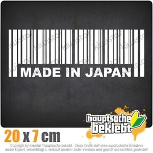 Made-in-Japan-20-x-7-cm-JDM-decal-sticker-coche-car-blanco-discos-pegatinas