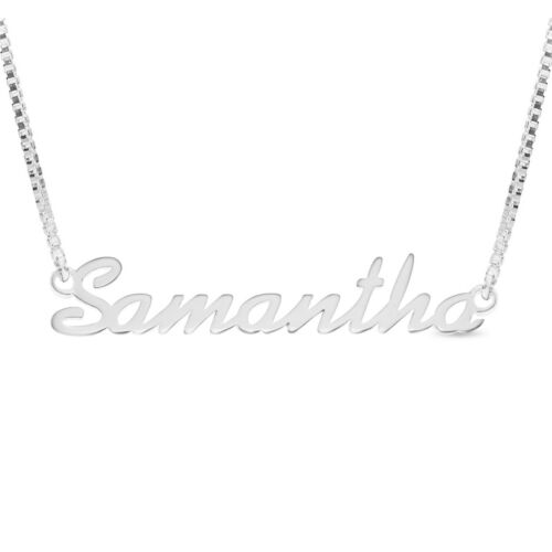925 Sterling Silver SAMANTHA Name Necklace Womens Girls Pendant Gift Ready Stock