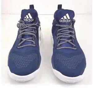 056c92b84fc Adidas D Lillard 2 Primeknit PK Navy Blue White 17 Mens Basketball ...