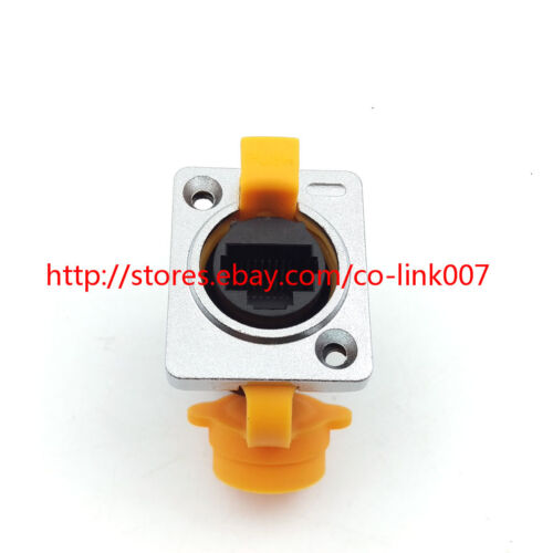 RJ45 waterproof Connector,RJ45 Wall Plug IP65 Ethernet Connector CAT5//5E//6E