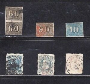 BRAZIL-OLD-SELECTION-WITH-SC-039-s-24-25-37-79-81-VG-F-USED-STAMPS