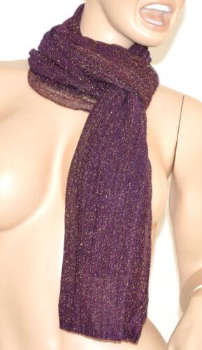 SCIARPA donna VIOLA BRILLANTINATA foulard pashmina scialle écharpe scarf шарф 5