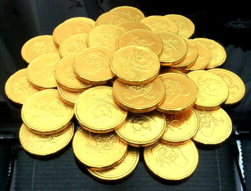 Pirate Chocolate Coins 10 20 30 40 50 Party Bag Fillers Kids Treasure Favour