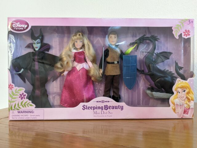Disney Store Sleeping Beauty Mini Doll Set New