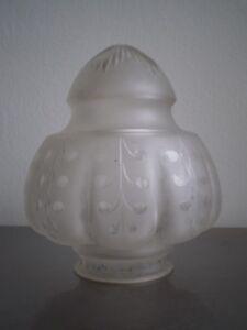 TULIPE-OBUS-VERRE-GRAVE-LUSTRE-LUMINAIRE-XIX-s-ANCIEN-LAMPE-PIECE-7cm