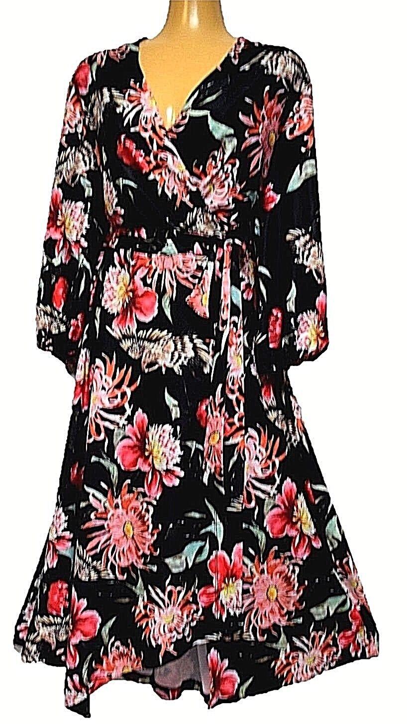 TS Dress TAKING SHAPE VIRTU plus sz XS   14 Oriental Nights stretch NWT rrp