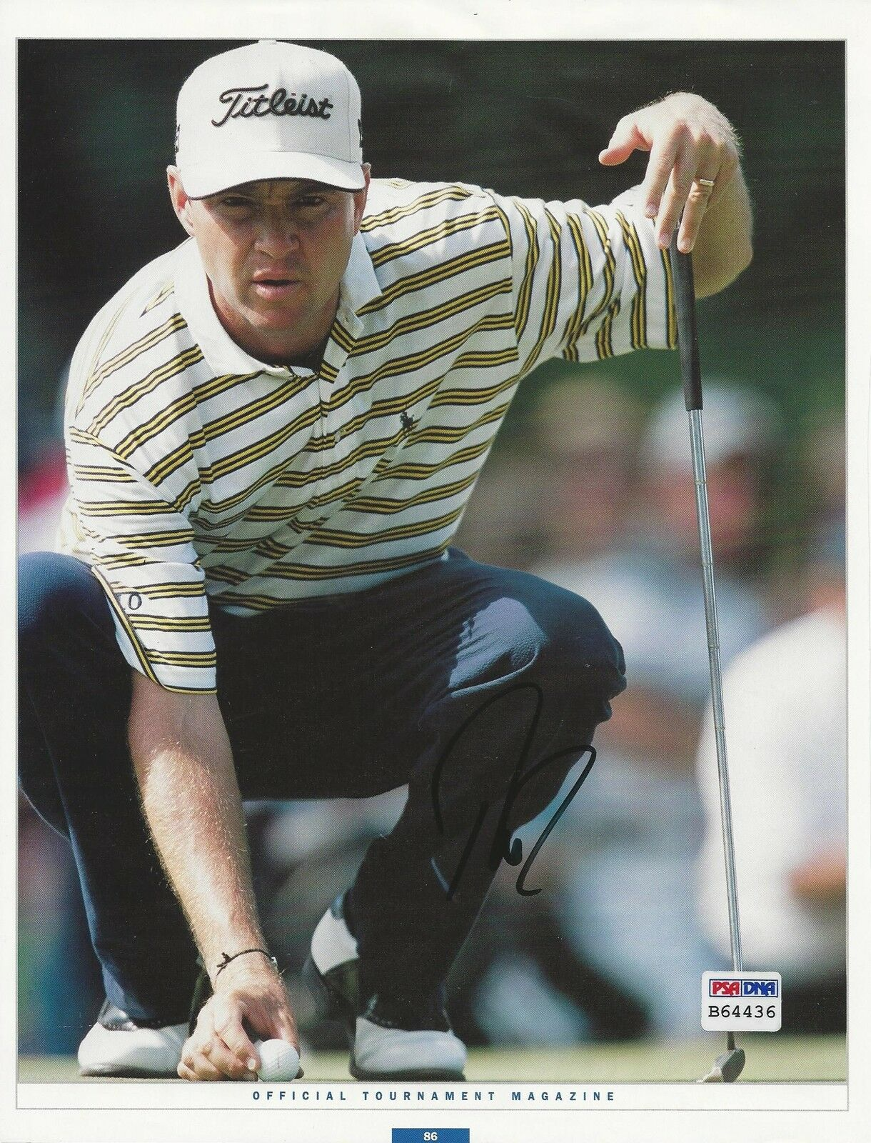 Davis Love III PGA Golf signed 8x10 photo PSA/DNA #B64436