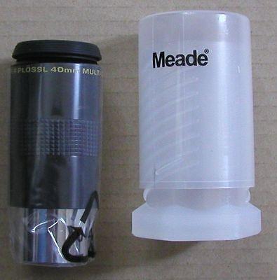NEW 40mm Meade Series 4000 Super Plossl telescope eyepiece