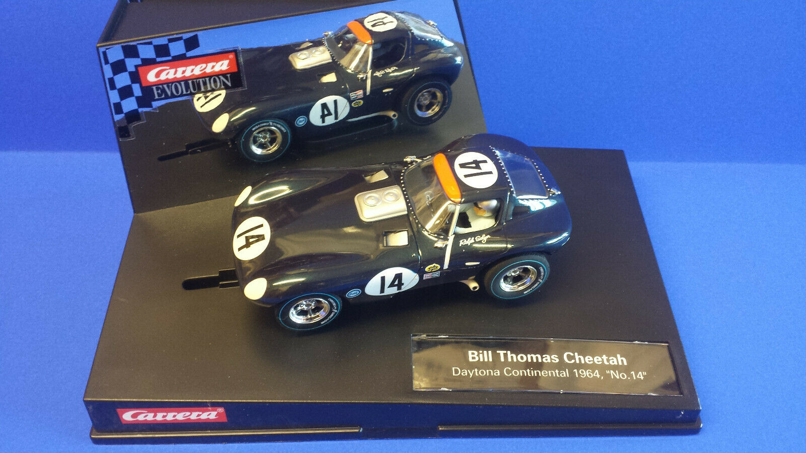 CARRERA EVO 27414 BILL THOMAS CHEETAH DAYTONA 1964 1 32 SCALEXTRIC COMPATABLE..