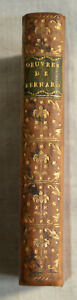 1780 Œuvres complètes de M. Bernard Page de titre en gravure rel cuir BE