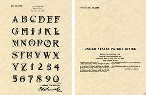 Collins 1938 REDDY KILOWATT FONT US PATENT Art Print READY TO FRAME!!!