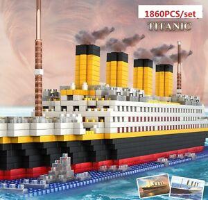 1 Титаник корабль/Nano блок алмаз микро мини здание развивающая игрушка 56 см #66503