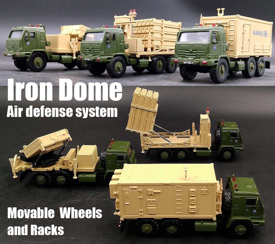 precios bajos todos los dias Sistema de defensa defensa defensa de Israel aire de Cúpula de Hierro Limited 1 72 Conjunto de 3 Modelo Diecast camiones  estar en gran demanda