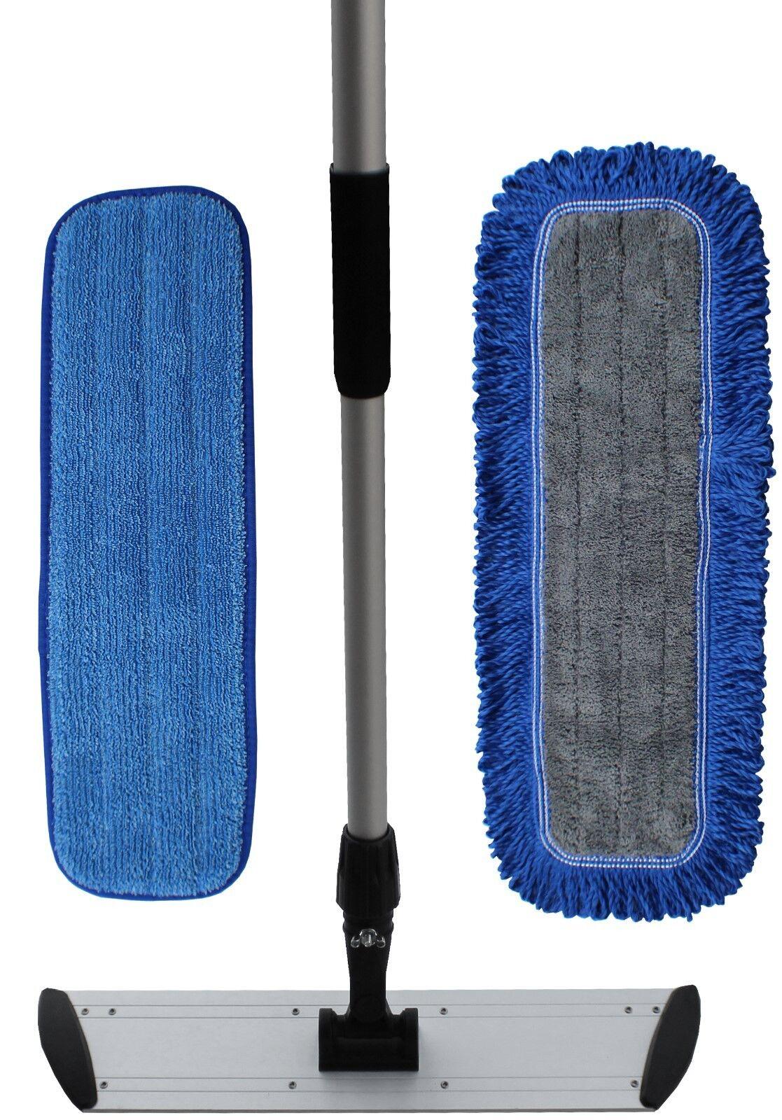 Ultimate 18  Microfiber Mop Kit   Microfiber Mop Pads   Flat Frame   Mop Handle