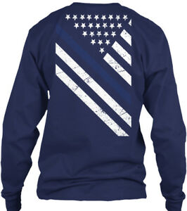 Thin-Blue-Line-Exclusive-Gildan-Long-Sleeve-Tee-T-Shirt
