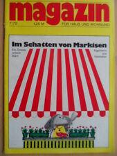 MAGAZIN FÜR HAUS UND WOHNUNG 7 - 1972 Balkon-Markissen Eigenheim aus Holzbeton
