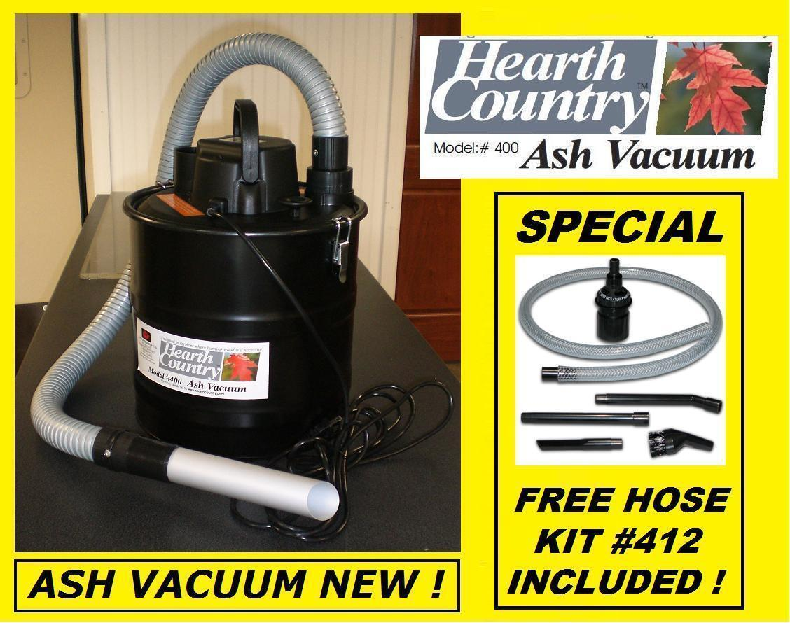 HEARTH COUNTRY Ash Ash Ash Vacuum Pellet Stove Fireplace Vac NEW  Woodstove cbbcde