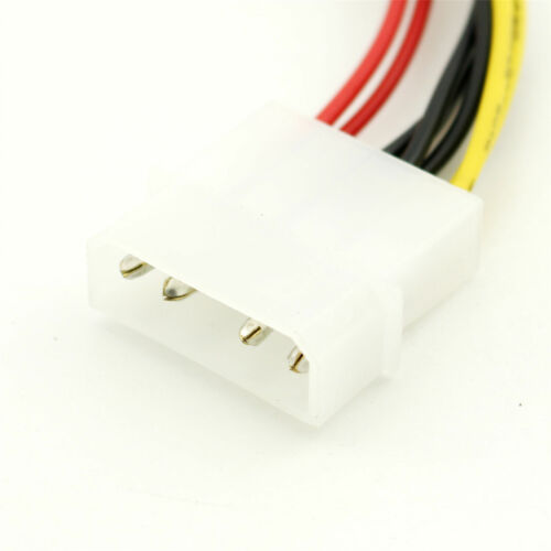 """1pc 5.25/"""" 4 Pin Molex To 2 x 3.5/"""" Floppy Drive FDD Power Splitter Adapter Cable"""