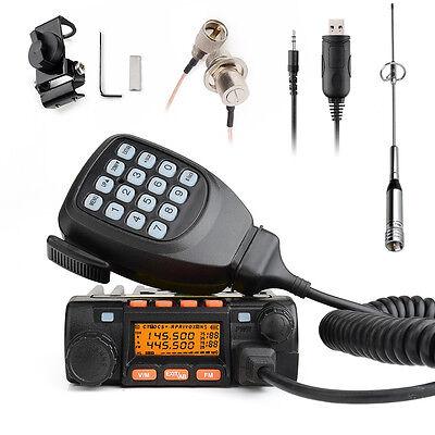 Tokmate KT-8900 136-174/400-480MHz car 2-Way Radio walkie talkie +Program Cable