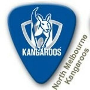 North-Melbourne-Kangaroos-Guitar-Picks-5-Pack-Official-AFL-Product-FREE-POSTAGE