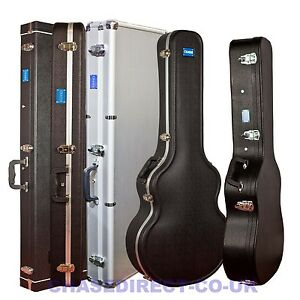 Chase-Guitar-Hard-Case-Electric-Acoustic-Classical-Bass-Jumbo-PVC-ABS-Flight