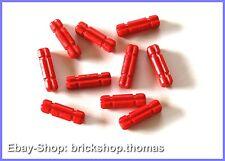Lego Technic 10 x Kreuzstangen Achsen rot - 32062 - Axle 2 Notched Red - NEU/NEW