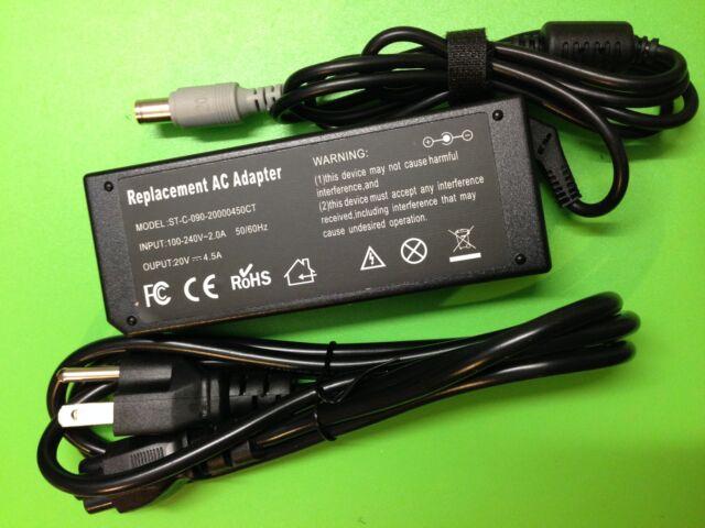 90W ac adapter charger cord for IBM Lenovo ThinkPad SL410 SL500 SL510 T420 NEW