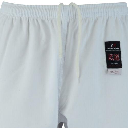 Malino Student Karate Gi Kids Men Suit Uniform Free Belt Cotton 8oz White//Black