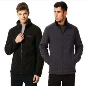 REGATTA-MENS-GARRIAN-SHERPA-FLEECE-JACKET-BLACK-or-SEAL-GREY-RMA333