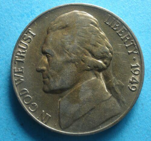 1949-s Jefferson Nickel  vg-vf        free shipping