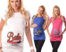 Adorable Slogan Cotton Printed Maternity Pregnancy Top T-shirt 2006 Loading