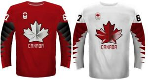 Team Canada Ice Hockey Jersey White Red Black Men Youth