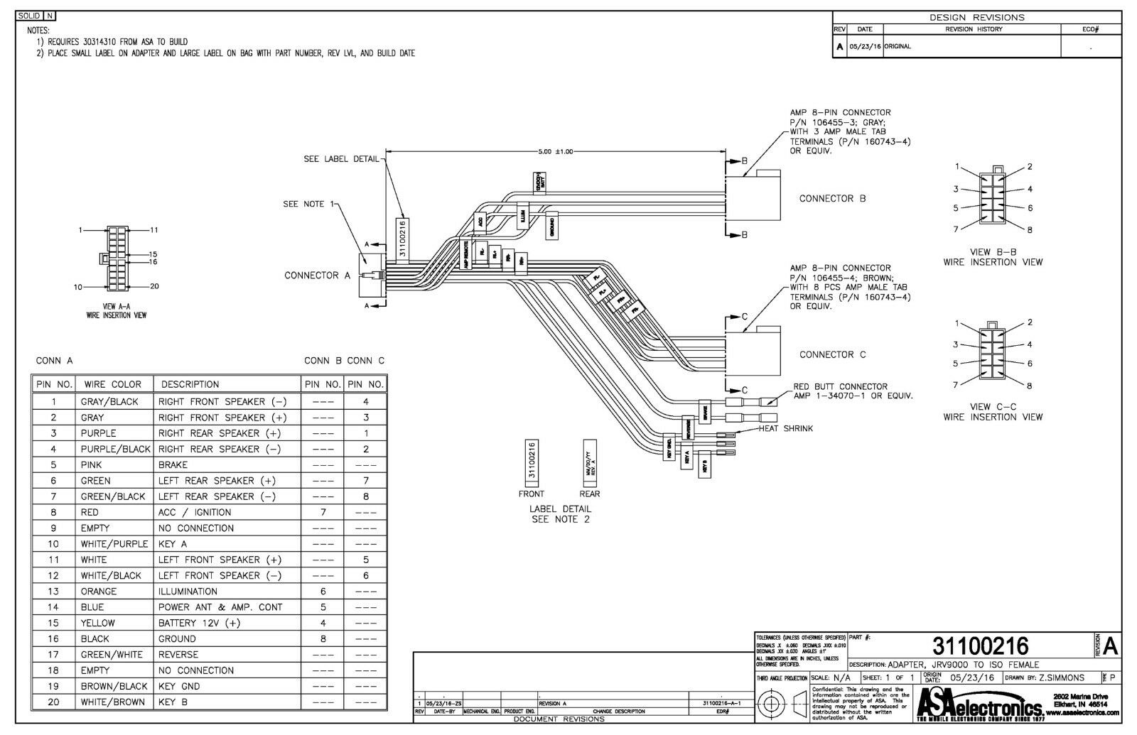 Jensen 8 Din Wiring Diagram | Wiring Diagram on