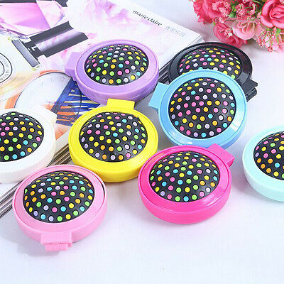 New Mini Round Hair Brush Folding Comb Airbag Massage With Mirror Makeup Travel