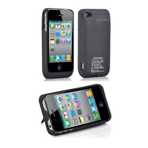 pretty nice 5198f 4d186 Details about 3000mAh iPHONE 4 4S POWER BANK PORTABLE BATTERY CHARGER CASE  EXTERNAL BACKUP PAC