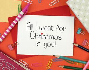 Romantic Christmas Card For Wife Girlfriend Boyfriend Husband Fiancee Ebay