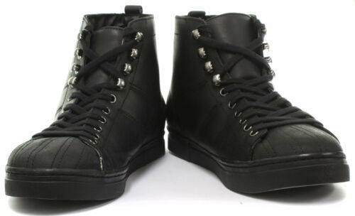 Leather Lace Grinders Up Stile Max Mid Shoe Unisex Nero Cut New Trainer Sqg1866w