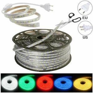 LED-Strip-110V-220V-5050-SMD-60LED-M-IP67-Waterproof-Tape-Lights-Rope-With-Plug