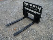 48 Long 5500 Pound Rated Pallet Forks Attachment Fits Bobcat Skid Steer