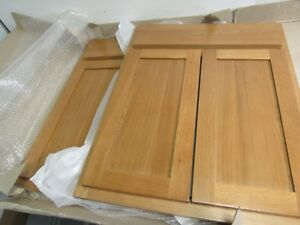 Image Is Loading Kitchen Bathroom Base Cabinet Doors Shaker Solid Oak