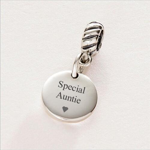 opcional grabado en la espalda mi tía Especial tía tía encanto plata esterlina